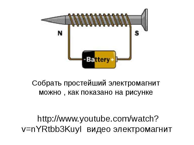 Как сделать простейший электромагнит