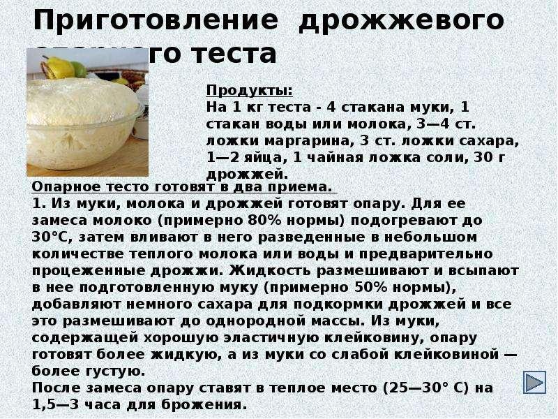 Рецепт теста дрожжевого на молоке пошагово