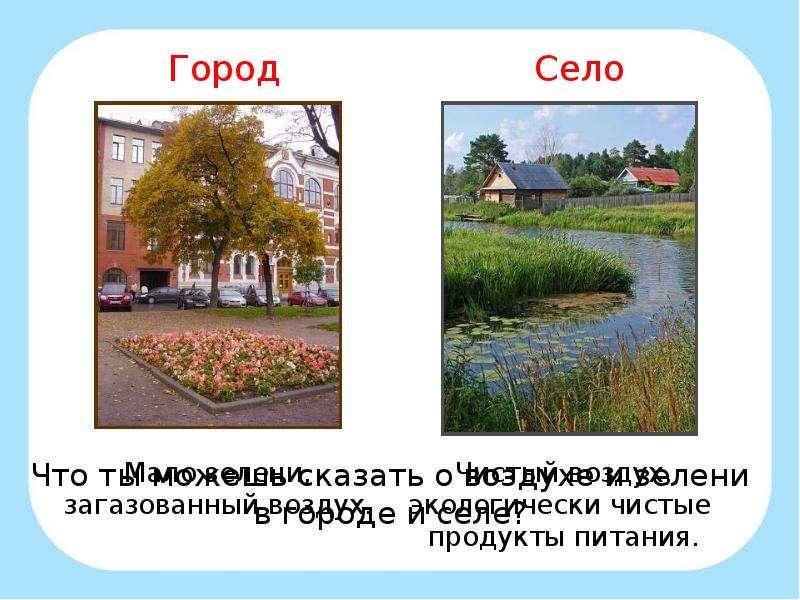 Город и село, слайд 11