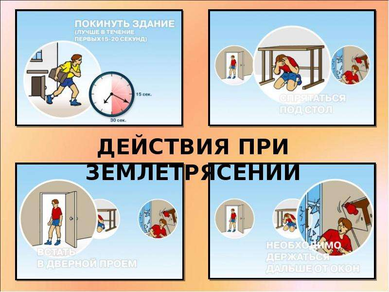 Правила безопасного поведения при землетрясениях, рис. 7