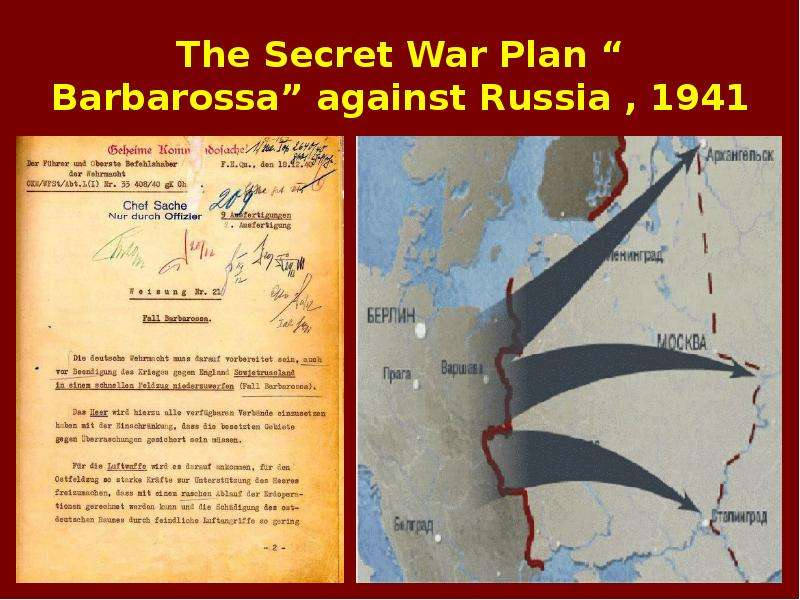 a review of the covert operation barbarossa in 1941