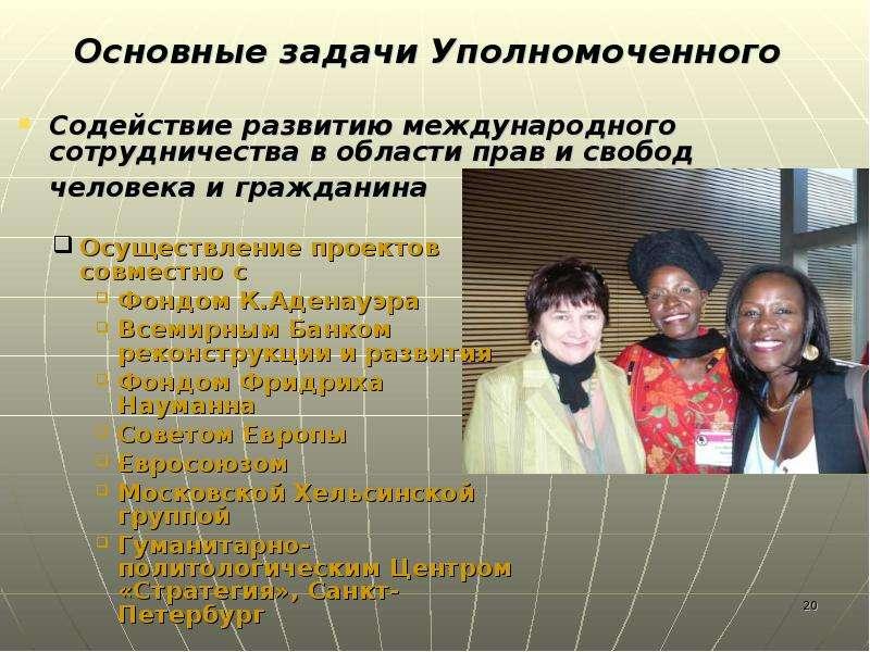 Содействие развитию международного сотрудничества в области прав и свобод человека и гражданина