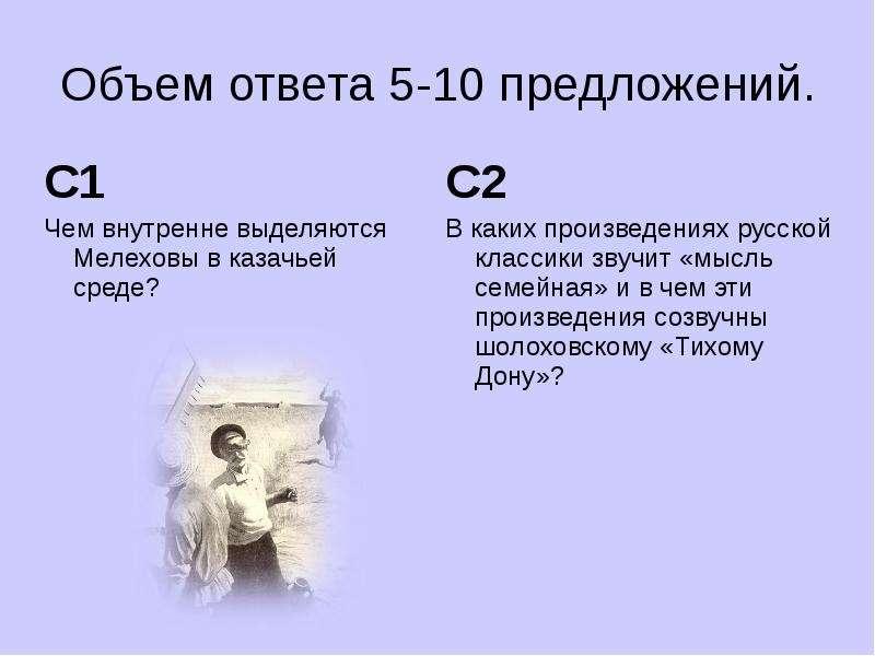 Объем ответа 5-10 предложений. С1