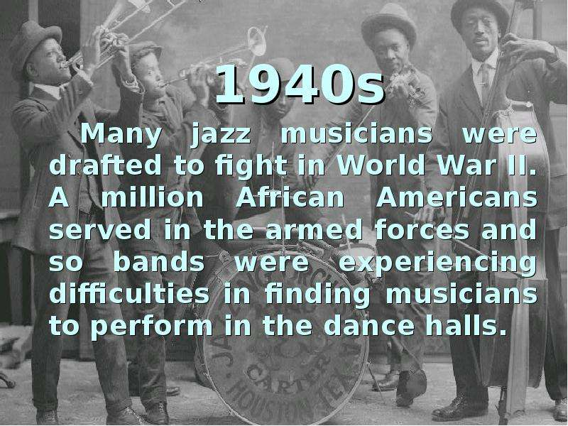 jazz music between world wars essay Professor brown's essay gives some historical perspective on world music and between world music and popular music and jazz.