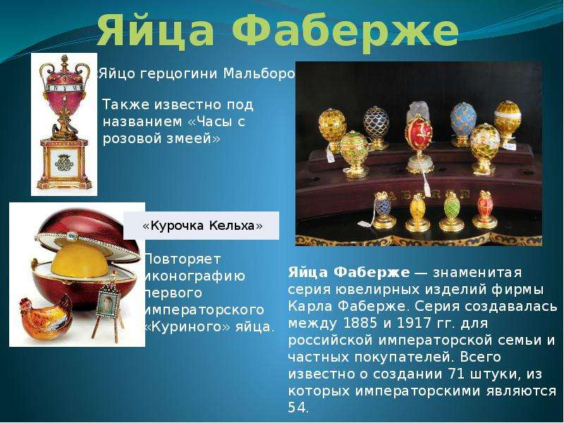 the history of faberge eggs essay The 1902 kelch rocaille egg all 7 kelch eggs created by michael perchin, faberge's 2nd head workmaster st petersburg height: 12 cm, length: 14 cm.