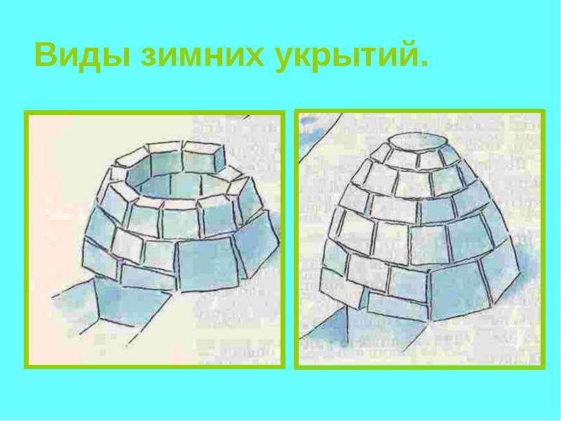 Виды зимних укрытий - презентация, доклад, сообщение