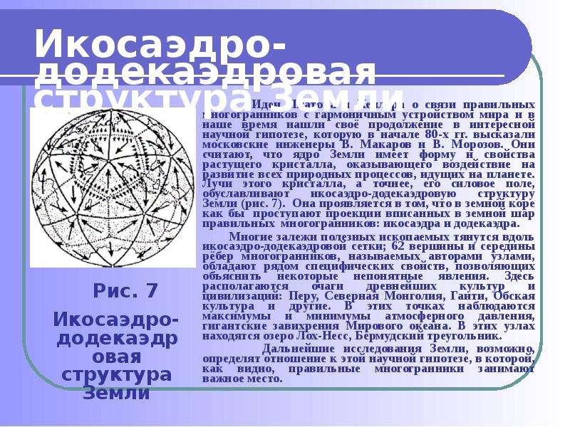 Идеи Платона и Кеплера о связи правильных многогранников с гармоничным устройством мира и в наше вре