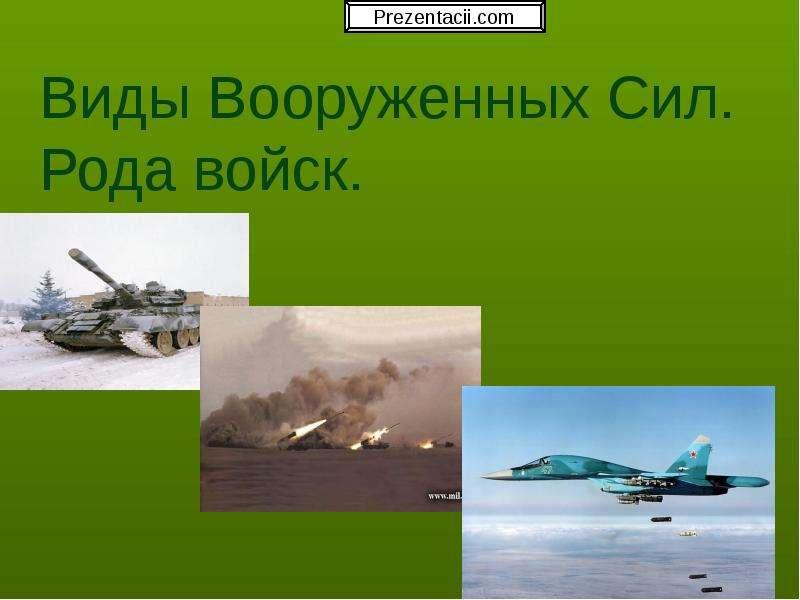 Презентация Виды Вооруженных Сил. Рода войск