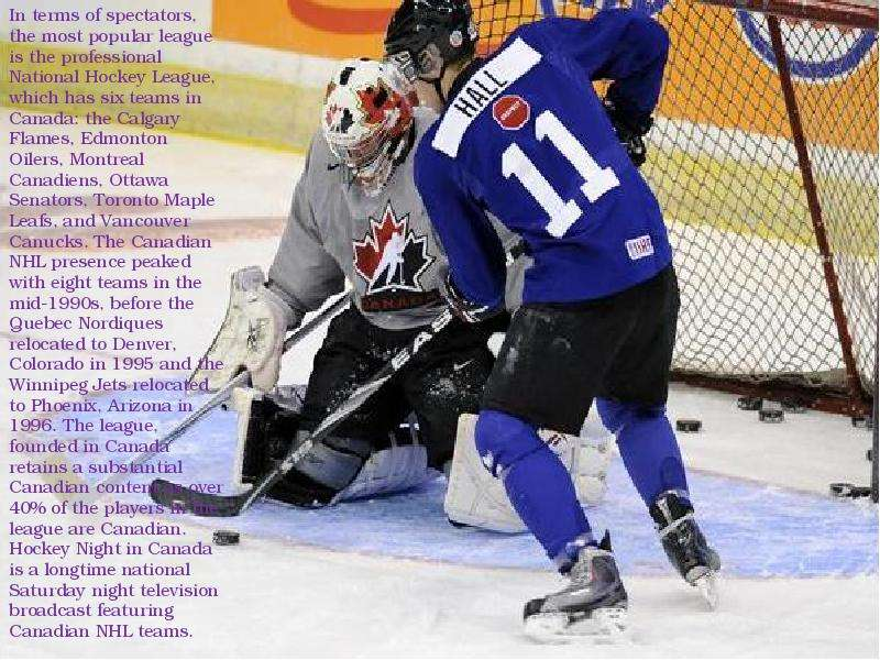 an argument in favor of improving hockey in canada by cutting down the number of teams and players s During this time the forums may be unavailable and mcleodgamingcom may be unreachable for a short period of time (so impact on ssf2's.