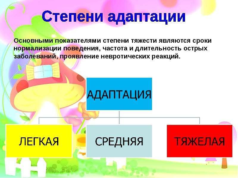 реферат на тему адаптация в детском саду кедровых орешков
