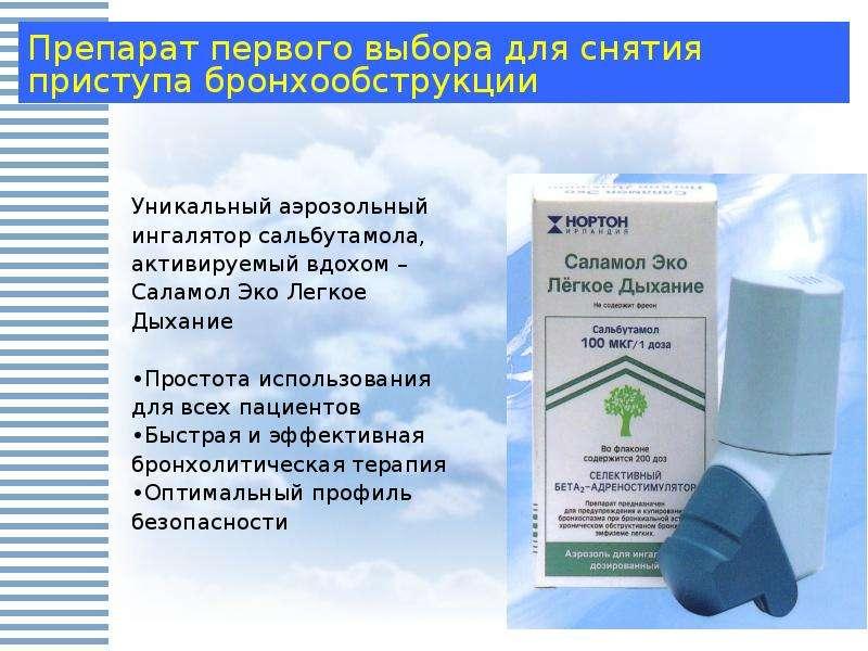 Аэрозоль для лечения бронхиальной астмы