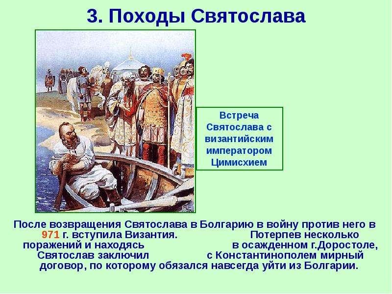 3. Походы Святослава