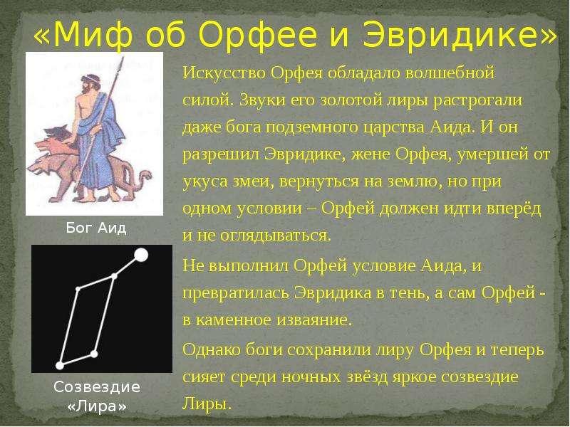 по эвридика гдз краткий орфей пересказ литературе и