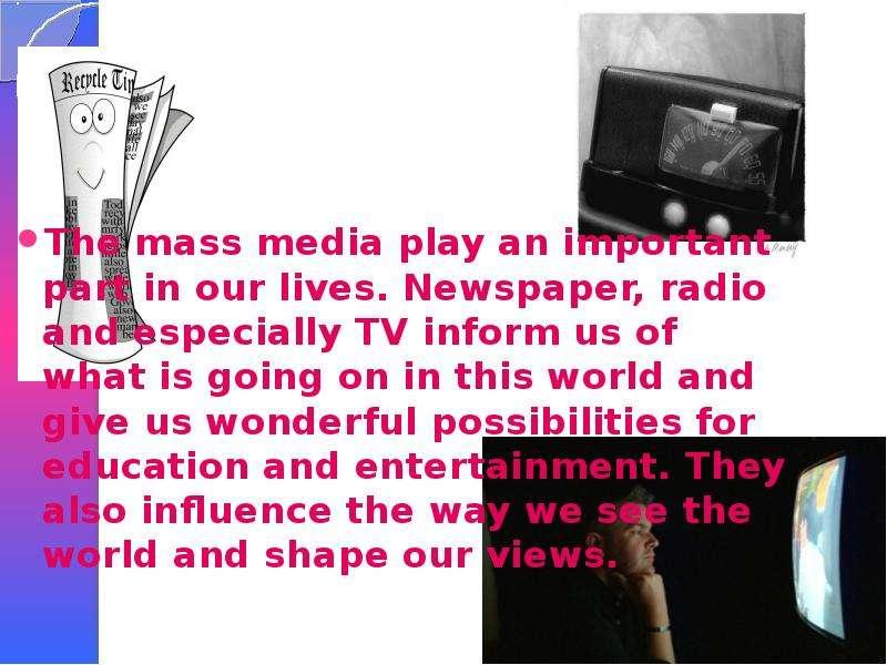 mass media tv and radio