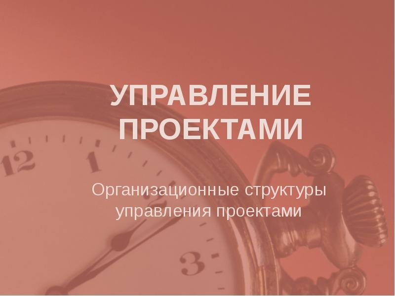 Презентация Организационные структуры управления проектами