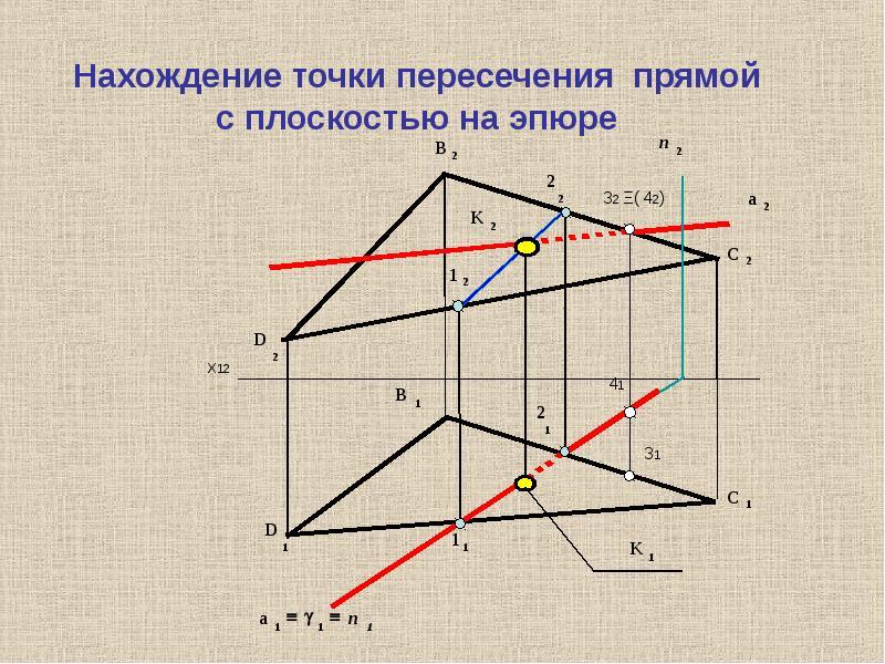 РАСПОЛОЖЕНИЕ ПРЯМОЙ И ПЛОСКОСТИ, слайд 10