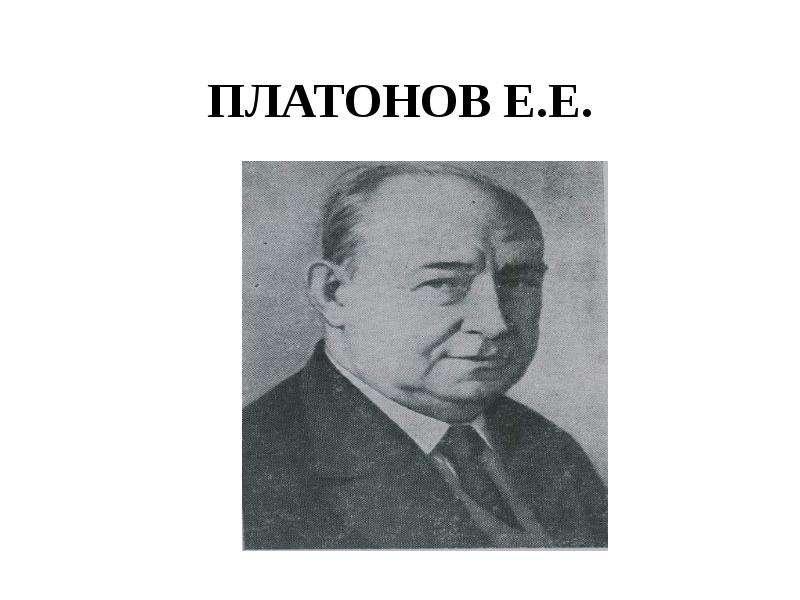 ПЛАТОНОВ Е. Е.