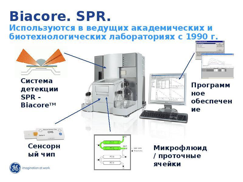 Biacore. SPR. Используются в ведущих академических и биотехнологических лабораториях с 1990 г.