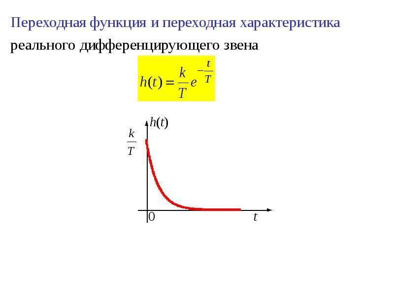 Переходная функция и переходная характеристика Переходная функция и переходная характеристика реальн