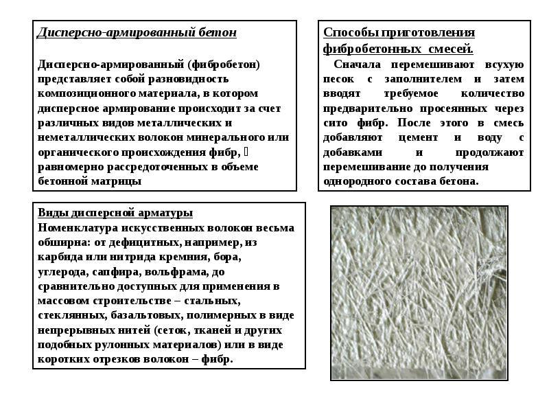 Специальные виды бетонов применение раствор цементный марки 25