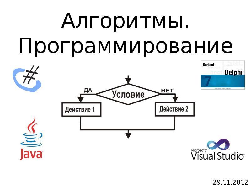 Алгоритмы Программирование