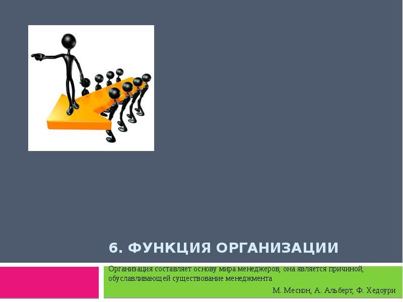 Презентация Функция организации