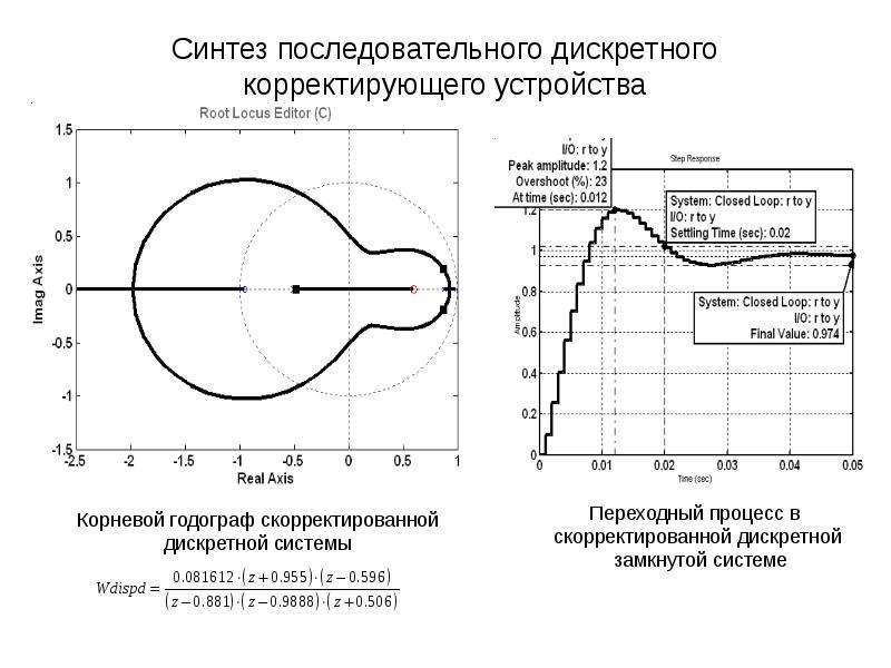 Синтез последовательного дискретного корректирующего устройства