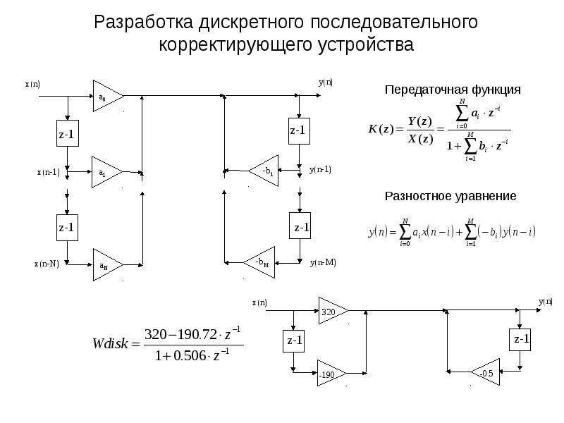 Разработка дискретного последовательного корректирующего устройства