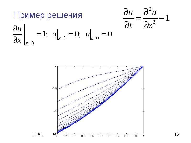 Метод сеток для решения ДУ в частных производных, слайд 12
