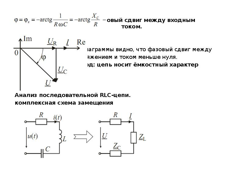 фазовый сдвиг между входным напряжением и током. Из диаграммы видно, что фазовый сдвиг между напряже