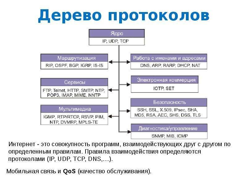 Дерево протоколов