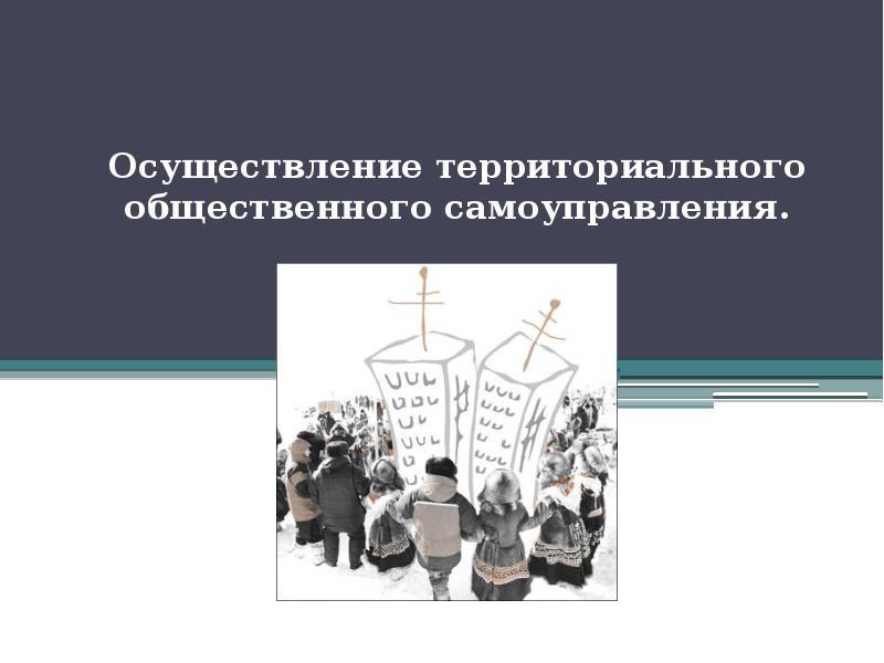 Презентация Осуществление территориального общественного самоуправления