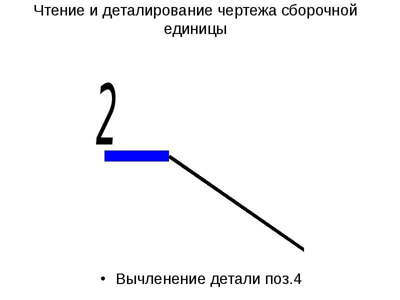 Чтение и деталирование чертежа сборочной единицы Вычленение детали поз. 4