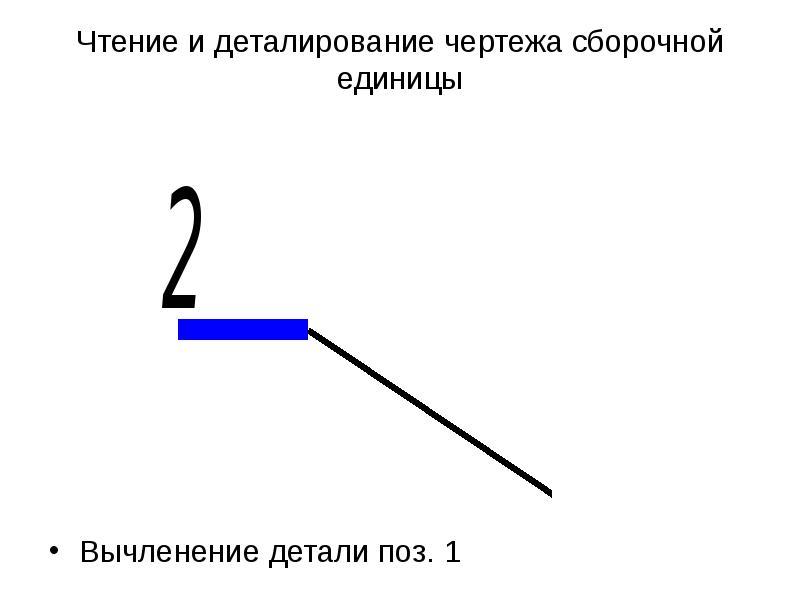 Чтение и деталирование чертежа сборочной единицы Вычленение детали поз. 1