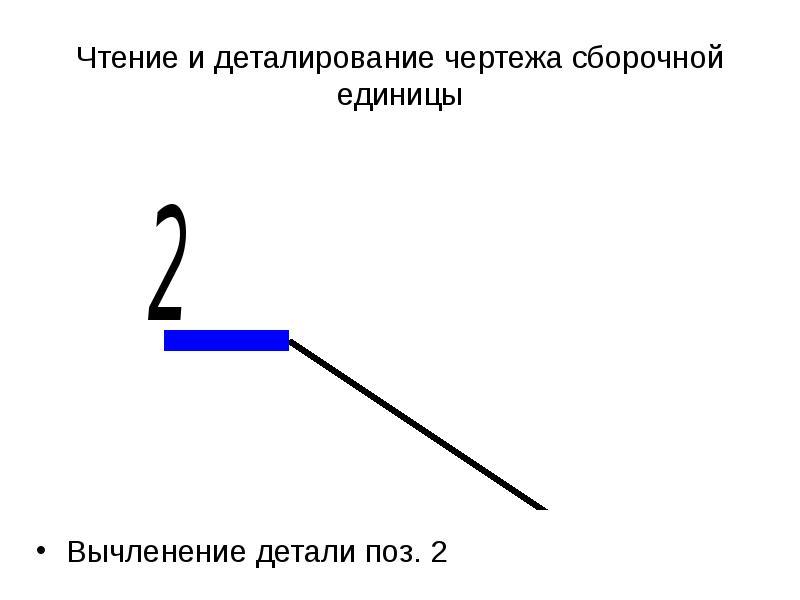 Чтение и деталирование чертежа сборочной единицы Вычленение детали поз. 2