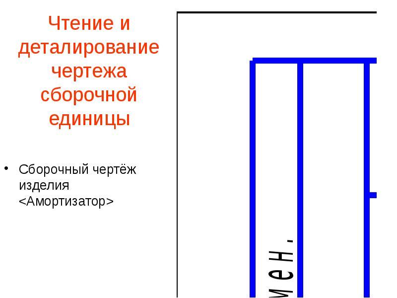 Чтение и деталирование чертежа сборочной единицы Сборочный чертёж изделия <Амортизатор>