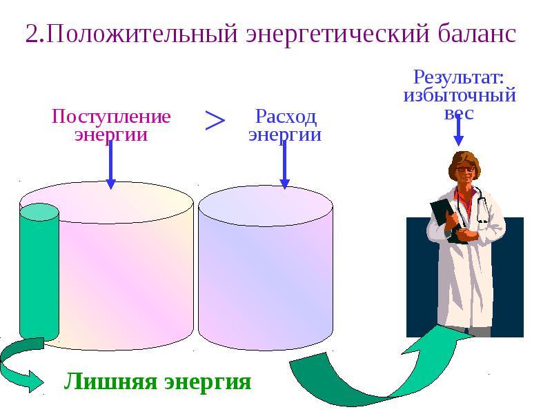 Обмен и баланс энергии в организме и их регуляция, слайд 8