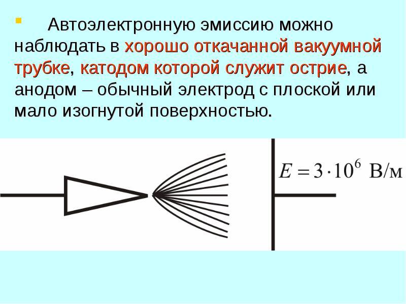 ЭМИССИЯ ЭЛЕКТРОНОВ ИЗ ПРОВОДНИКОВ. КОНТАКТНЫЕ ЯВЛЕНИЯ НА ГРАНИЦАХ ПРОВОДНИКОВ, слайд 14