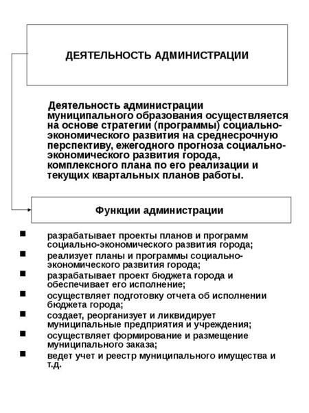 Деятельность администрации муниципального образования осуществляется на основе стратегии (программы)