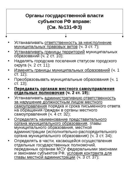 Устанавливать ответственность за неисполнение муниципальных правовых актов (ч. 3 ст. 7); Устанавлива