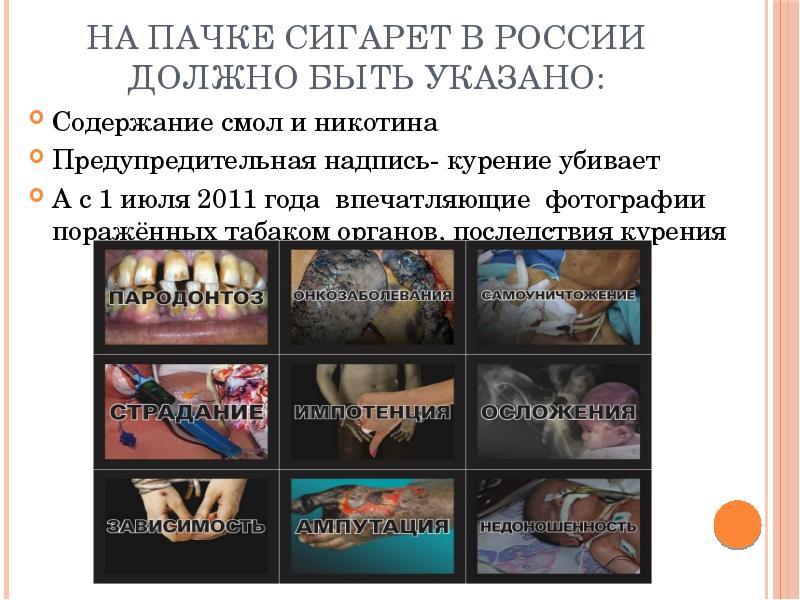 День, когда появились картинки на пачках сигарет в россии