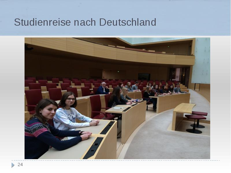 Studienreise nach Deutschland