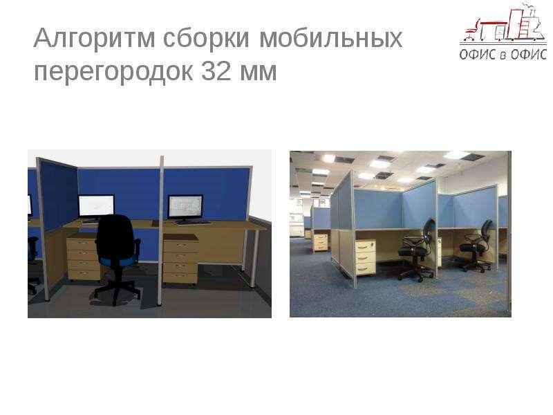 Алгоритм сборки офисных перегородок 32 мм