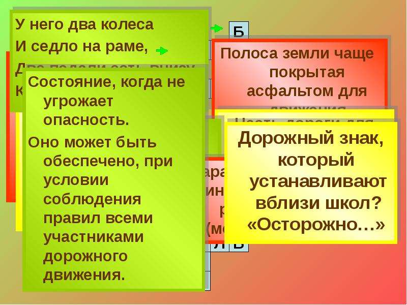 Правила дорожного движения детям: «Помни правила движенья как таблицу умноженья», слайд 22