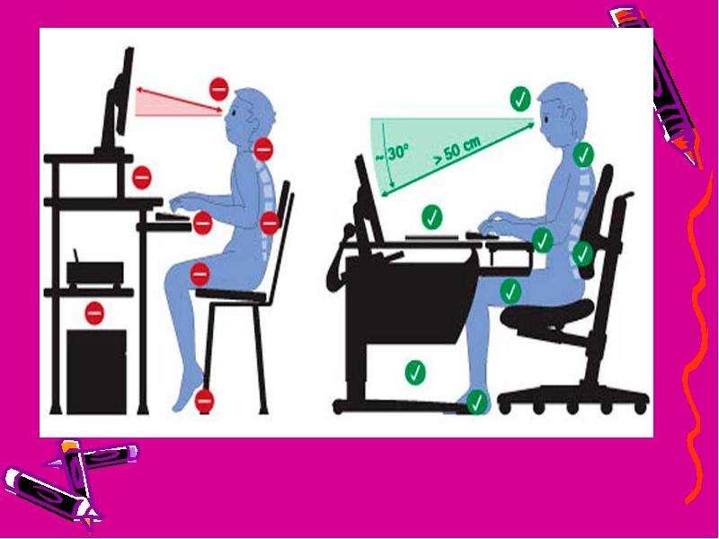 Проект по основам безопасности и жизнедеятельности на тему «Компьютер и здоровье школьника», слайд 13