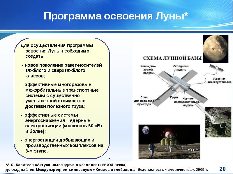 Программа освоения Луны*