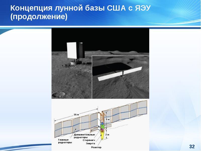 Концепция лунной базы США с ЯЭУ (продолжение)