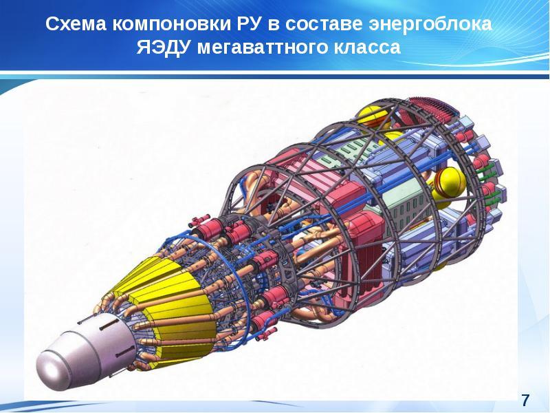 Ядерные энергетические установки прямого и машинного преобразования энергии космического и напланетного назначения, слайд 7