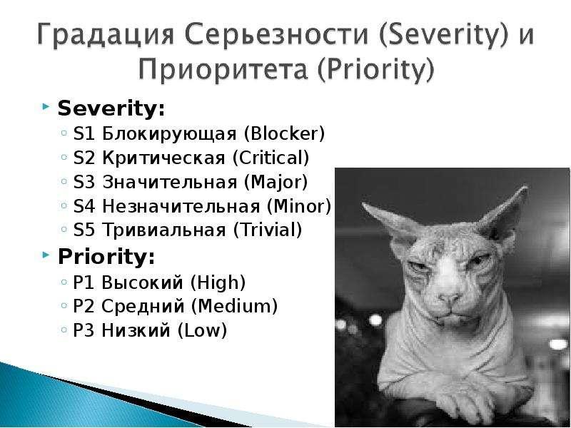 Severity: Severity: S1 Блокирующая (Blocker) S2 Критическая (Critical) S3 Значительная (Major) S4 Не