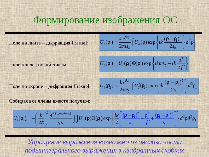 Формирование изображения ОС